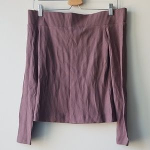 Aritzia Wilfred Tournesol Off the Shoulder Blouse